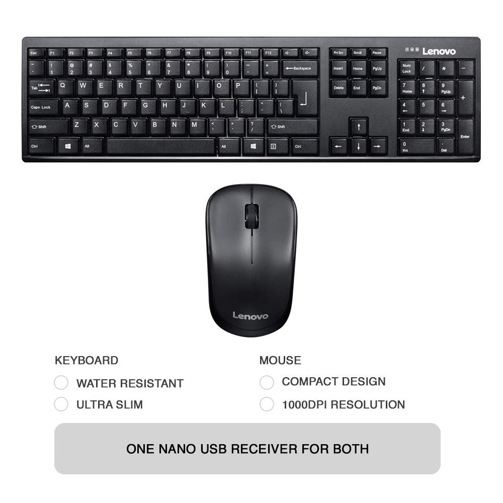 Lenovo 100 Wireless Keyboard and Mouse